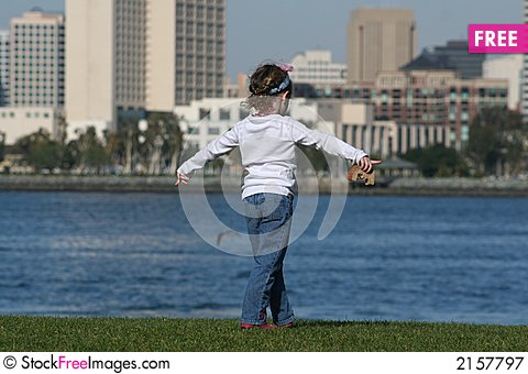 Free Lunch And A View Of The City Royalty Free Stock Photography - 2157797