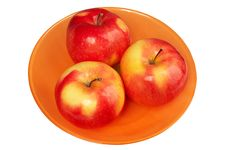Red And Fresh Apples Royalty Free Stock Photo