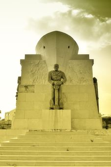 World War Monument Soldier Royalty Free Stock Photo