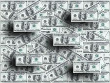 Free Hundred Dollar Notes Backgroun Stock Photography - 2151422
