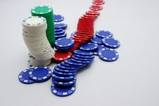 Free Poker Chips Royalty Free Stock Images - 2152059