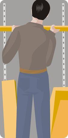 Worker Illustration Series Stock Photos