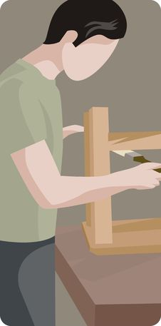 Worker Illustration Series Royalty Free Stock Photography