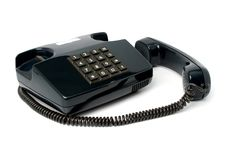Free Telephone Set Of Black Color Royalty Free Stock Images - 2153479