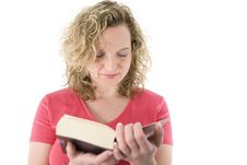 Free Attractive Blonde Reading Stock Photo - 2153500