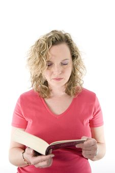 Free Attractive Blonde Reading Stock Image - 2153511