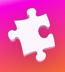White Puzzle On Background Royalty Free Stock Photos