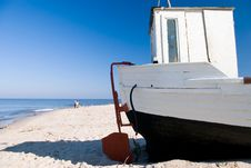 White Fishing Boat. Royalty Free Stock Photo