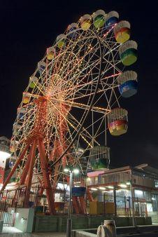Free Carousel Playground Night Royalty Free Stock Image - 2155146