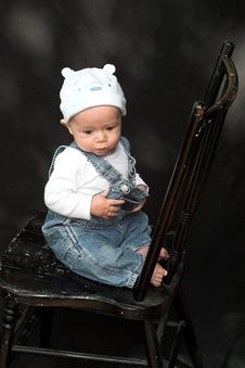Free Baby On Chair Stock Photo - 2155610