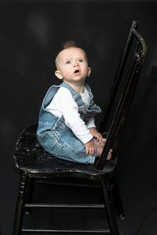 Free Baby On Chair Stock Image - 2155681
