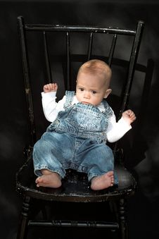 Free Baby On Chair Stock Photos - 2155693