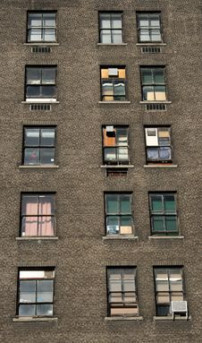 Free Three Rows Of Windows Royalty Free Stock Image - 2155836