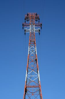 Free Top Of The Red Power Tower Stock Photos - 2157533