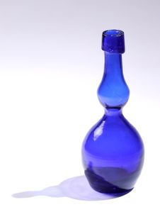 Free Blue Glass Bottle Royalty Free Stock Photos - 2157948