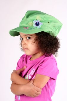 Free Girl In Green Hat Stock Image - 2158471