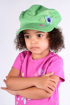 Free Girl In Green Hat Stock Photos - 2158473