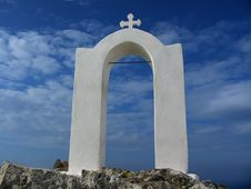 Greek Church Arch Stock Photography