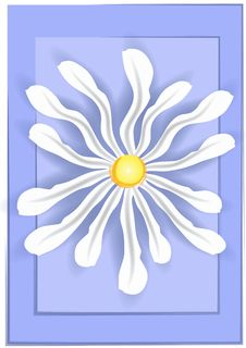 Free White Daisy On Blue Background Royalty Free Stock Photo - 2158525