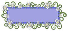 Web Page Logo Daisy Flowers Royalty Free Stock Photo