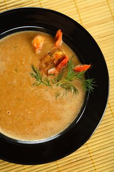 Free Soup With Shrimps And Fennel Royalty Free Stock Photos - 2159638