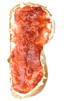 Free Milk Bread With Jam Stock Photos - 2159903