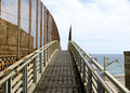 Free Gangplank To The Beach. Royalty Free Stock Image - 21502796