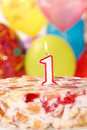 Free Birthday Candle With Flame And Balloon Background Stock Images - 21503464