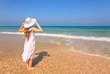 Free Woman On The Beach Stock Photo - 21500030