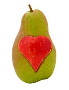Free Pear With Heart Shape Royalty Free Stock Photos - 21500128