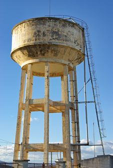 Elevated Water Tank Stock Photography