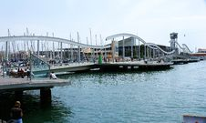 Free Panoramic Of The Port Of Barcelona. Royalty Free Stock Photo - 21502305