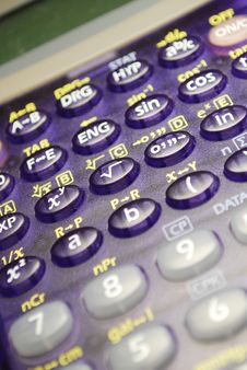 Free Scientific Calculator Royalty Free Stock Photo - 21503155