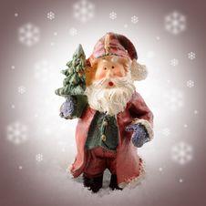 Free Ceramic Santa In Snowstorm Royalty Free Stock Photography - 21503367
