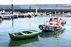 Boats Of Fishing. Stock Photos