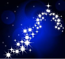 Free Blue Winter And Christmas Background Royalty Free Stock Photography - 21507767