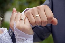 Free Wedding Rings Royalty Free Stock Photography - 21509387