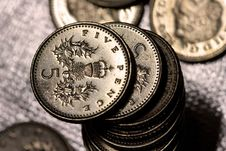 Free A Pile Of Five Pence Coins Stock Image - 21511181