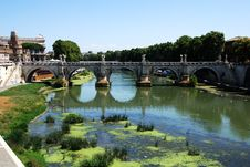 Free View Of Famous Sant  Angelo Bridge. Royalty Free Stock Photo - 21512105