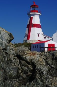East Quaddy Lighthouse Royalty Free Stock Photos