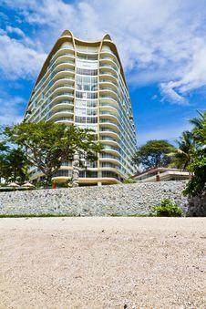 Modern Hotel Beside The Beach. Stock Photography