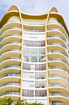 Modern Hotel Beside The Beach. Royalty Free Stock Photography
