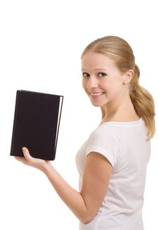 Free Girl With Book Royalty Free Stock Photography - 21513967
