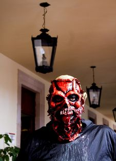 A Zombie Inside An Old House. Royalty Free Stock Photos
