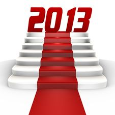 Free New Year 2013 On A Red Carpet - A 3d Image Stock Photography - 21515672