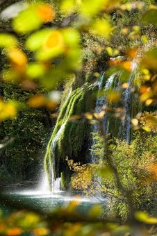 Free Waterfall In Plivicka Jezera Plitvice Royalty Free Stock Photography - 21515677