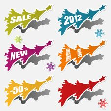 Free Christmas Sticker Stock Image - 21516911