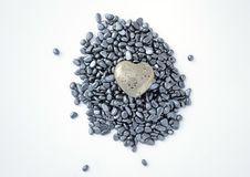 Free Fool S Gold Heart On Hematite Beads Stock Photos - 21518943