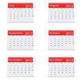 Free 2012 Desk Calendar Royalty Free Stock Image - 21524446