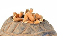 Free Cigarette Butts Royalty Free Stock Photos - 21521198
